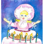 Birthday Surprise - Watercolor on paper - 4 inches x 6 inches