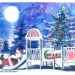 Christmas Recreation - Watercolor on paper- 6 inches x 4 inches
