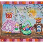 Easter Family Fun- Watercolor on paper- 4 inches x 6 inches