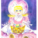 Easter Surprise - Watercolor on paper - 4 inches x 6 inches