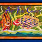 Friendship - Acrylic on canvas- 16 inches x 8 inches - Printed card 9 inches x 4 inches