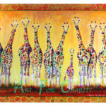 Getting Older - Watercolor on canvas - 18 inches x 24 inches - Printed card 6 inches x 4 inches