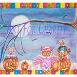 Halloween Family Fun - Watercolor on paper- 6 inches x 4 inches