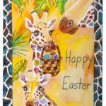 Happy Easter - Watercolor on paper - 11 inches x 15 inches - cards 4 inches x 6 inches