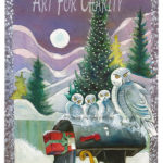 Holiday Surprise - Watercolor on paper - 10 inches x 14 inches - printed card 4 inches x 6 inches