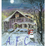 Let It Snow - Acrylic on canvas - 10 inches x 14 inches - Printed card 4 inches x 6 inches