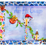 Merry Christmas - Liquid Acrylic on paper - 15 inches x 11 inches - cards 6 inches x 4 inches