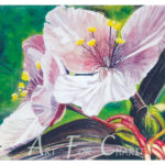 Nature's Magic - Watercolor on canvas- 24 inches x 18 inches- Printed card 6 inches x 4 inches