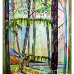 Out On A Limb - Watercolor on canvas - 24 inches x 36 inches- Printed card 4 inches x 6 inches