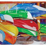 Ready For The Season - Watercolor on canvas- 24 inches x 18 inches- Printed card 6 inches x 4 inches