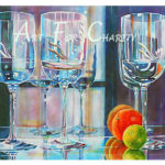 Reflections - Watercolor on paper - 22 inches x 15 inches- Printed card 6 inches x 4 inches