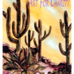 Saguaro National Park - Watercolor on paper - 9 inches x 12 inches - Printed card 4 inches x 6 inches