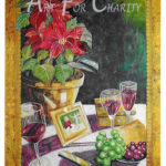Shared Holiday Moments - Rice Paper & Watercolor on canvas - 24 inches x 36 inches - Printed card 4 inches x 6 inches