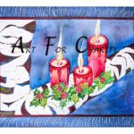 Silent Night - Watercolor on paper - 14 inches x 10 inches - Printed card 6 inches x 4 inches