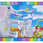 Happy Easter - Liquid Acrylic on paper - 15 inches x 11 inches - cards 4 inches x 6 inches