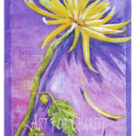Thoughtful - Watercolor on canvas - 12 inches x 16 inches - Printed card 4 inches x 6 inches
