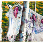 Alert and Wild - Watercolor on paper - 14 inches x 10 inches - Printed card 6 inches x 4 inches