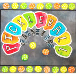 Pickleball Fan - Liquid acrylic on paper- 16 inches x 12 inches - Printed card 6 inches x 4 inches