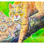 Protective Mom - Watercolor on paper - 14 inches x 10 inches - Printed card 6 inches x 4 inches