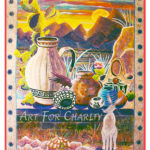 Southwest Sunrise - Satin Latex Mural - 4 feet x 6 feet - Printed card 4 inches x 6 inches